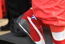 Detail on Dario Franchitti's shoe