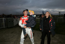 Craig Lowndes with his family