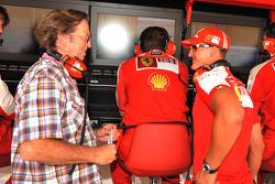 Eric Clapton with Michael Schumacher, Test Driver, Scuderia Ferrari