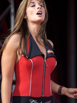 A lovely girl at the Budweiser stage