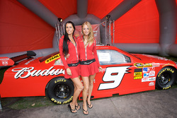 Budweiser girls in the fan zone
