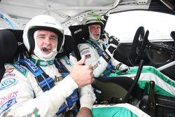 Daryl Beattie, former Motor GP rider hooked up with Stobart World Rally Team driver, Matthew Wilson
