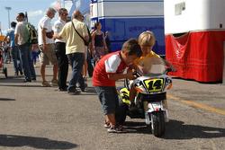 Young fans of Randy De Puniet, LCR Honda MotoGP