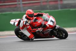 Michael Schumache, Scuderia Ferrari, teste une superbike