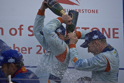 LMP1 podium: champagne celebrations