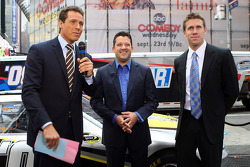 Good Morning America Host Chris Cuomo interviews NASCAR Sprint Cup Series drivers Tony Stewart and Carl Edwards
