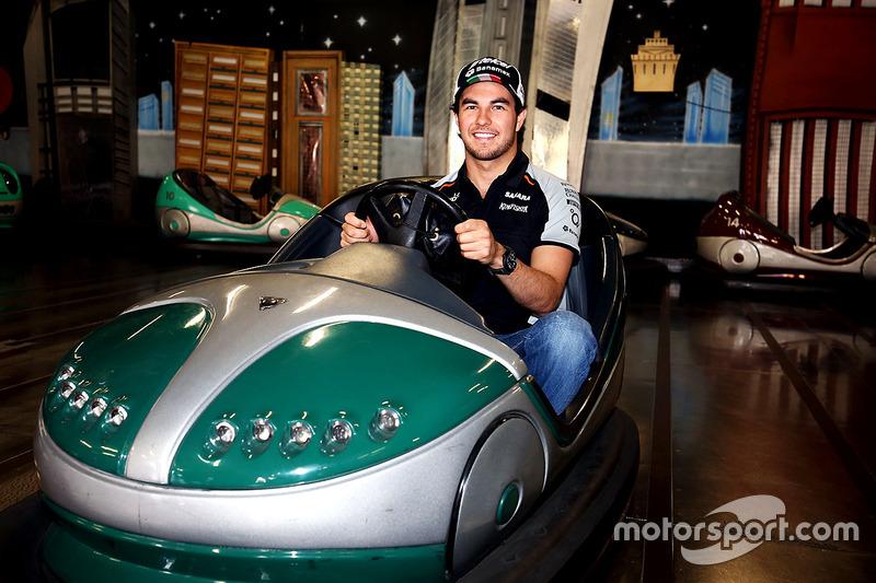 Sergio Pérez, Sahara Force India F1 visite Luna Park