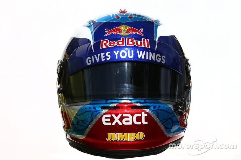 El casco de Max Verstappen, Scuderia Toro Rosso