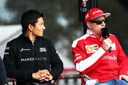 Rio Haryanto, Manor Racing, und Kimi Räikkönen, Ferrari
