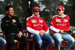 Rio Haryanto, Manor Racing; Kimi Räikkönen, Ferrari; Sebastian Vettel Ferrari