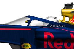 Concept halfgesloten koepel voor de cockpit van Red Bull