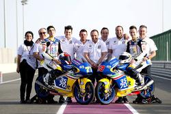 Lorenzo Petrarca, 3570 Team Italia, Mahindra and Stefano Valtulini, 3570 Team Italia, Mahindra with the team