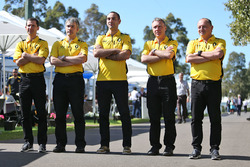 Remi Taffin, Renault Sport F1 Engine Technical Director with Nick Chester, Renault Sport F1 Team Chassis Technical Director, Cyril Abiteboul, Renault Sport F1 Managing Director, Bob Bell, Renault Sport F1 Team Chief Technical Officer and Frederic Vasseur,