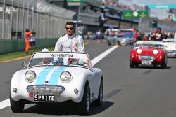 Pascal Wehrlein, Manor Racing, bei der Fahrerparade