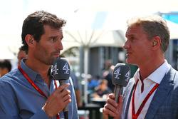Марк Уэббер, пилот Porsche Team WEC и ведущий Channel 4 и Дэвид Култард, советник команд Red Bull Racing и Scuderia Toro Advisor и комментатор Channel 4 F1