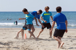 Antonio Felix da Costa, Marco Wittmann und Augusto Farfus, Beachfußball