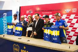 Yonny Hernandez, Aspar Racing Team; Aleix Espargaro, Team Suzuki MotoGP; Pol Espargaro, Monster Yamaha Tech 3