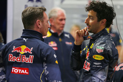 Christian Horner, Red Bull Racing Team Principal with Daniel Ricciardo, Red Bull Racing