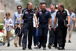 Franz Tost, Scuderia Toro Rosso Team Principal, Christian Horner, Red Bull Racing Team Principal and Robert Fernley, Sahara Force India F1 Team Deputy Team Principal