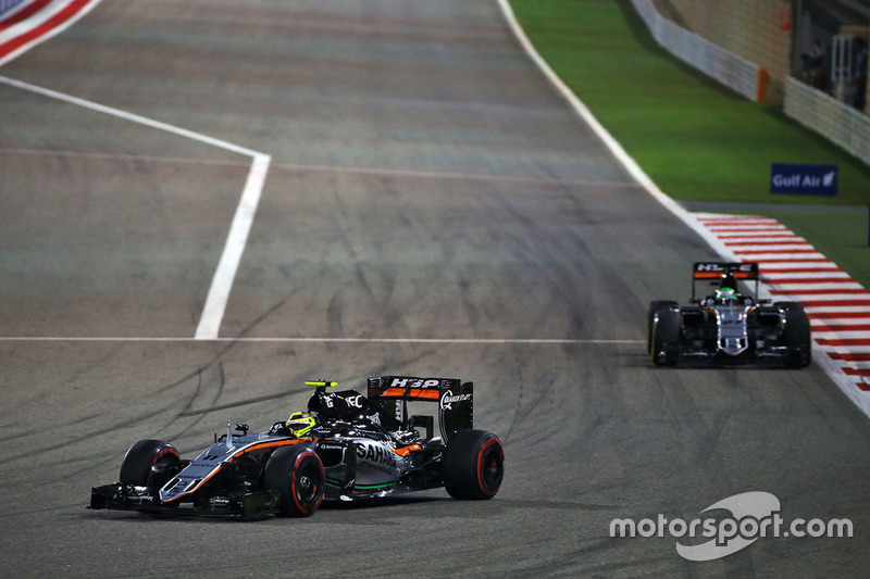 Nico Hulkenberg, Sahara Force India F1 VJM09 and Sergio Perez, Sahara Force India F1 VJM09