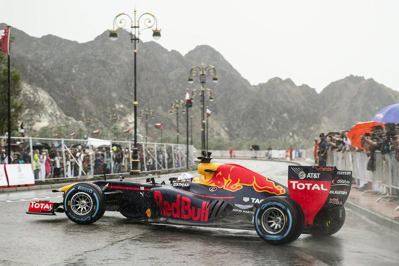 David Coulthard, Red Bull Racing durante el show run en Omán