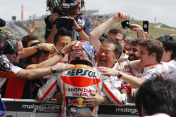Marc Marquez, Repsol Honda Team, Honda celebrate with the team