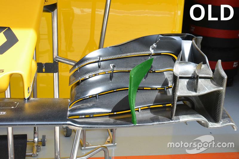 Renault Sport F1 Team, la vecchia ala anteriore