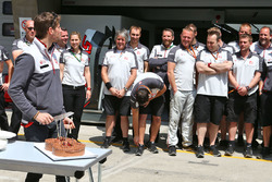 Romain Grosjean, Haas F1 Team celebrates his birthday with the team