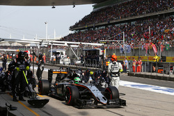Nico Hülkenberg, Sahara Force India F1 VJM09 Boxenstopp