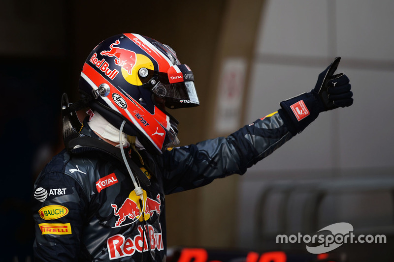 Third place Daniil Kvyat, Red Bull Racing in parc ferme
