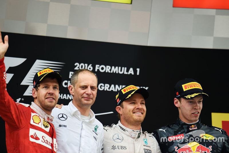 Sebastian Vettel, Nico Rosberg, Mercedes e Daniil Kvyat