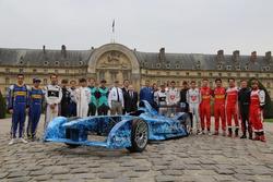 "Jean Todt, piloti Formula E, monoposto ""Iceberg"""