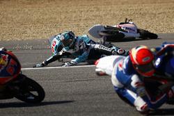 Fabio Quartararo, Leopard Racing ve Jorge Martin, Aspar Mahindra Takımı Kazası