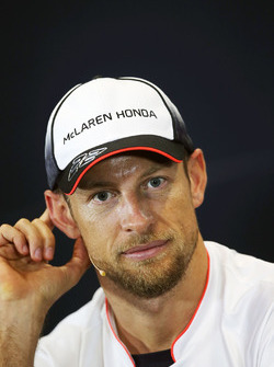 Jenson Button, McLaren in the press conference