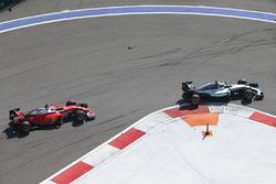 Nico Rosberg, Mercedes AMG F1 Team W07 leads Kimi Raikkonen, Ferrari SF16-H