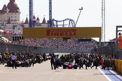 Стартовая решетка перед началом гонки