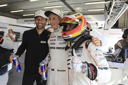 LMP1 class polesitter Mark Webber, Brendon Hartley, Timo Bernhard, Porsche Team