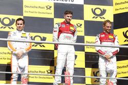 Podium: tweede Robert Wickens, Mercedes-AMG Team HWA, Mercedes-AMG C63 DTM; eerste Edoardo Mortara, Audi Sport Team Abt Sportsline, Audi RS 5 DTM; derde Nico Müller, Audi Sport Team Abt Sportsline, Audi RS 5 DTM