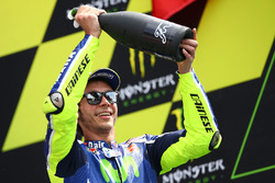 Podium: tweede Valentino Rossi, Yamaha Factory Racing