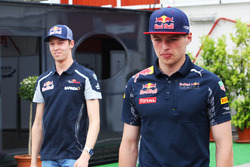 Max Verstappen, Red Bull Racing and Daniil Kvyat, Scuderia Toro Rosso