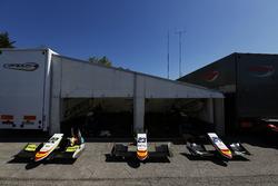 Conos de nariz de Alex Palou, Campos racing, Steijn Schothorst, Campos racing y Konstantin Tereshchenko, Campos racing