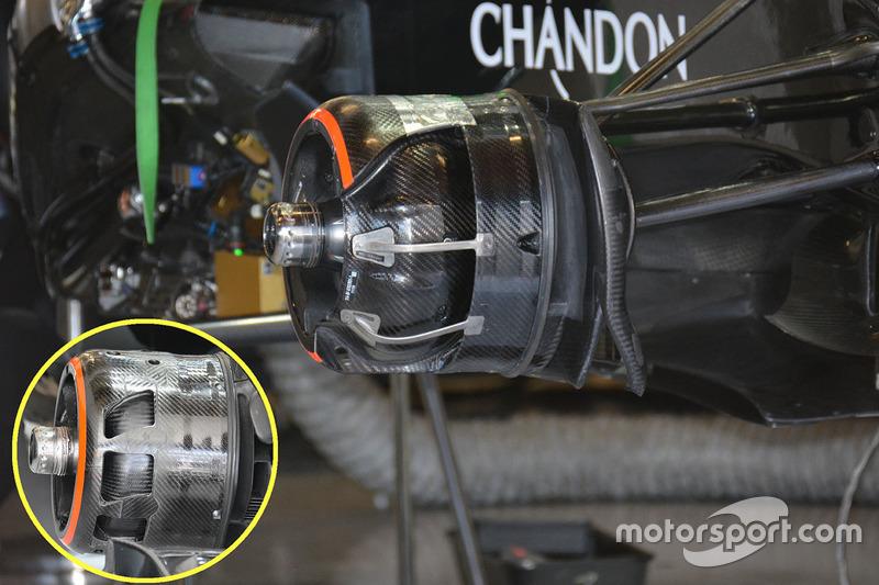 McLaren MP4-31 remmen detail