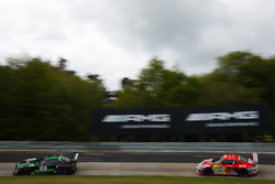 Stefan Mücke, Renger Van der Zande, Christian Hohenadel, HTP Motorsport, Mercedes AMG GT3; Adam Osieka, Kiki Sak Nana, 'Andy Sammers', Porsche 911 GT3 991