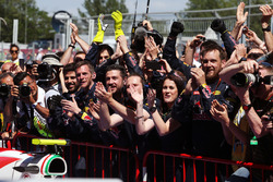 Red Bull Racing celebrate victory for Max Verstappen, Red Bull Racing in parc ferme