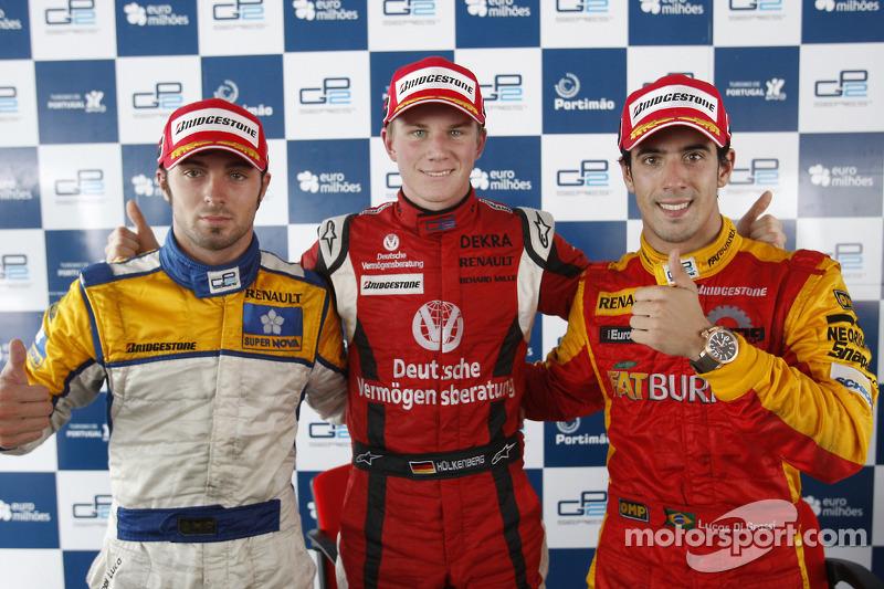 Nico Hulkenberg, Luca Filippi and Lucas Di Grassi