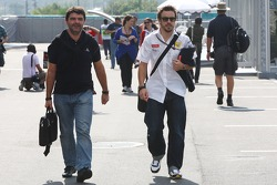 Luis Garcia Abad, Manager of Fernando Alonso, Fernando Alonso, Renault F1 Team