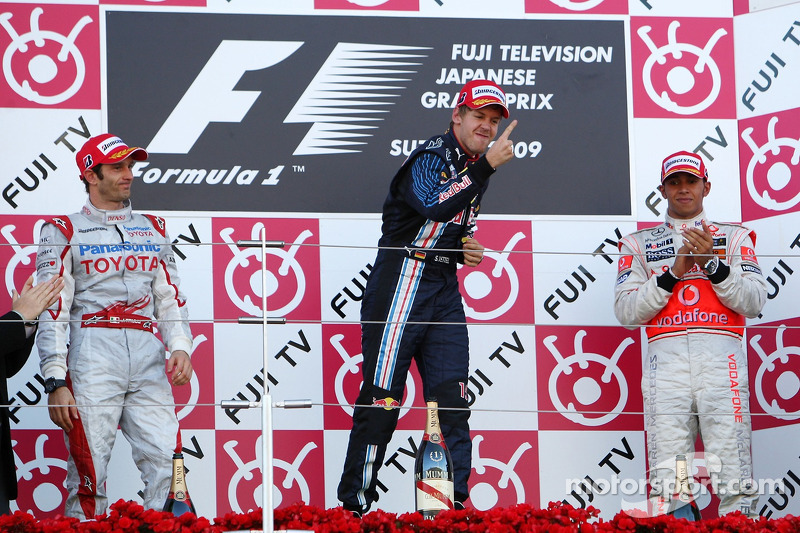 2009 Podium 1. Sebastian Vettel, Red Bull - Renault. 2. Jarno Trulli, Toyota. 3. Lewis Hamilton, McLaren-Mercedes