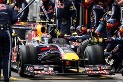 Sebastian Vettel, Red Bull Racing, pitstop