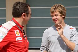 Спортивний директор Стефано Доменікалі, Scuderia Ferrari, Себастьян Феттель, Red Bull Racing