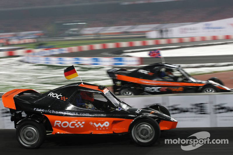 Final, race 3: Michael Schumacher and Andy Priaulx